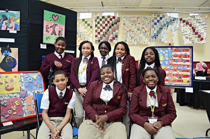 St. James School's National Junior Honors Art Society members