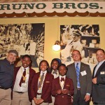 Students pose with Di Bruno Bros.