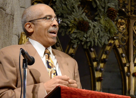 Dr. Thomas Gordon, a psychologist consulting with the Episcopal Diocese of Pennsylvania, delivered a rousing reflection on civil rights and diversity today