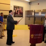 Di Bruno Bros. President Bill Mignucci, Jr., cuts the ribbon officially opening the kitchen