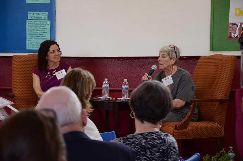 2nd Annual St James Forum speakers included Kelly Herrenkohl of Vetri Foundation for Children and Steveann Wynn of SHARE Food Program