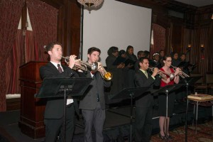 Trumpeters welcomed Dr. Evans and Dr. D'Angio, as well as the St. James Schoo Choir singing throughout