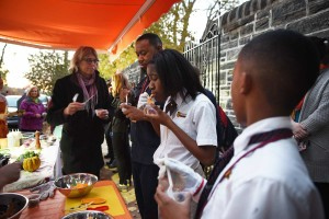 Students try their tasty meal