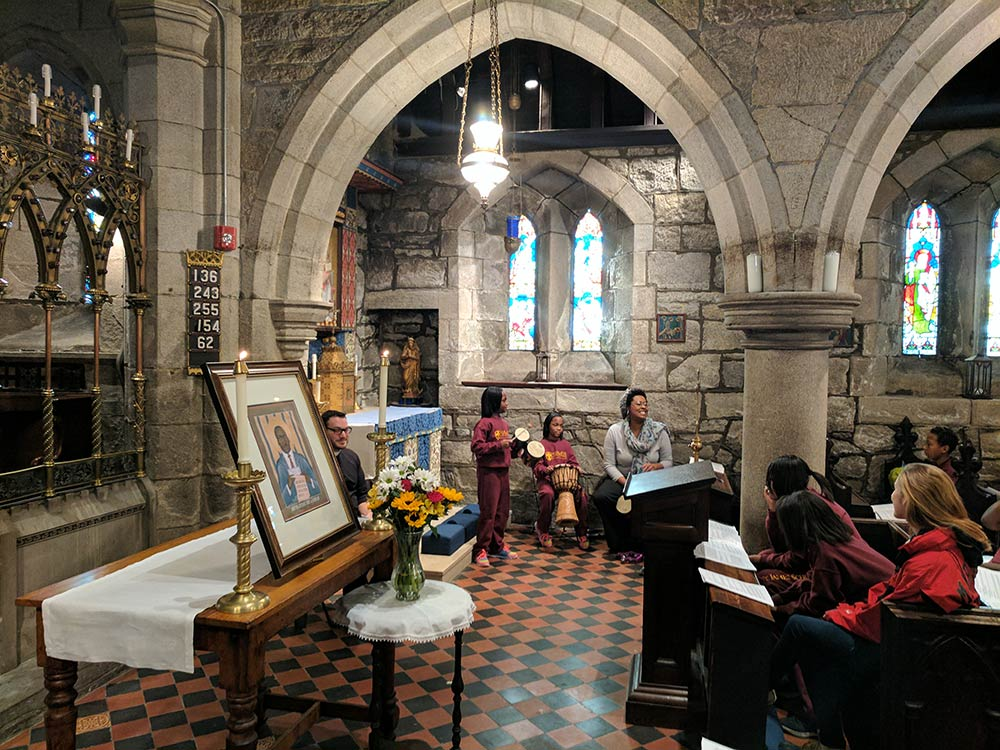 The morning began with a special prayer service in the Church of St. James the Less