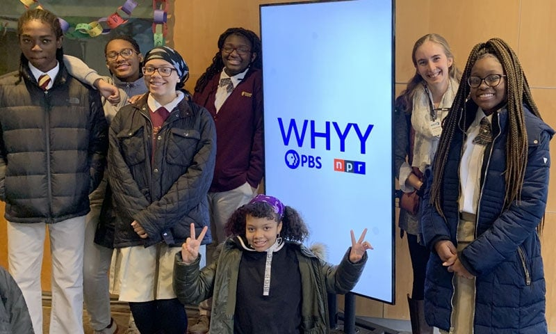 Student Journalists Took to the Streets with WHYY