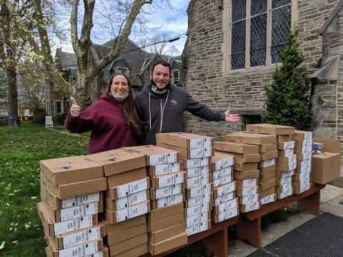 86 Chromebooks delivered