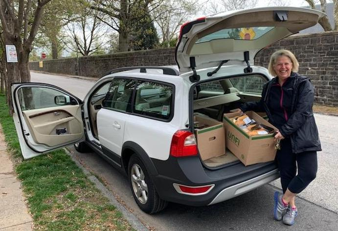 Donna Stone delivering donated food